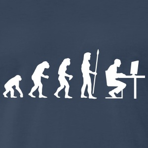 evolution_computer age T-Shirts - Men's Premium T-Shirt