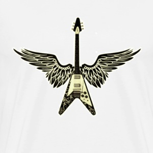 Winged Guitar 3x - Men's Premium T-Shirt