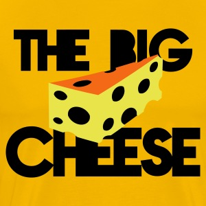 the big cheese swiss cheese good for the office boss! T-Shirts - Men's Premium T-Shirt