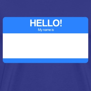 Hello! My name is ... (Blue)  - Men's Premium T-Shirt