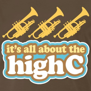 Trumpet Joke High C Music T-Shirts - Men's Premium T-Shirt