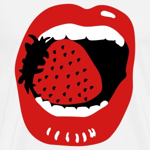Sexy Mouth Strawberry T-Shirts - Men's Premium T-Shirt