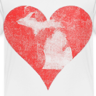 Design ~ Mi Distressed Heart Toddler T-Shirt
