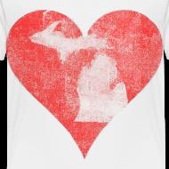 Design ~ Mi Distressed Heart Toddler T-Shirt