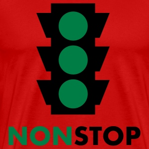 nonstop traffic light 2c T-Shirts - Men's Premium T-Shirt