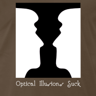 Design ~ Optical Illusions Suck Funny T-Shirt