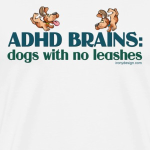 ADHD BRAINS - Men's Premium T-Shirt