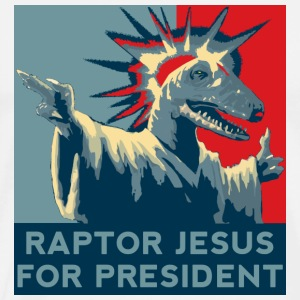 Raptor Jesus For President T-Shirts - Men's Premium T-Shirt