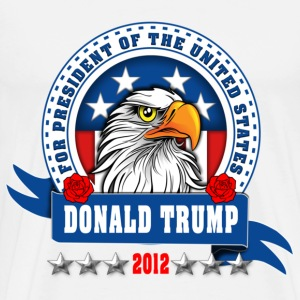 Donald Trump for president 2012 Eagle Head T-Shirts - Men's Premium T-Shirt