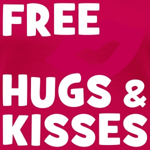 FREE HUGS & KISSES | women's plus size basic shirt - Women's Premium T-Shirt
