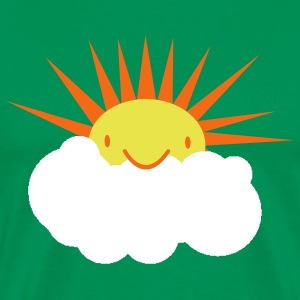 sun peeking out from behind a cloud T-Shirts - Men's Premium T-Shirt