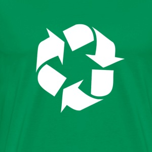 Global warming recycle symbol - Men's Premium T-Shirt