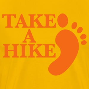 take a hike with footprint HIKING shirt T-Shirts - Men's Premium T-Shirt