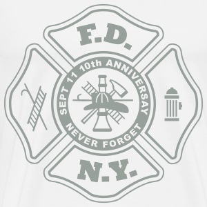 10th Anniversay WTC, NYFD, Never Forget T-Shirts - Men's Premium T-Shirt