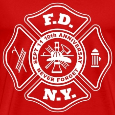 10th Anniversay WTC, NYFD, Never Forget T-Shirts