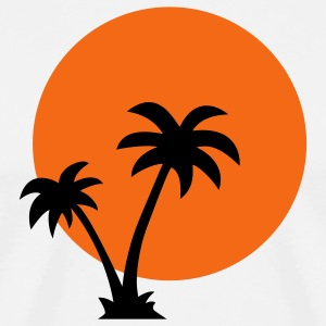Palm trees and sun - Men's Premium T-Shirt