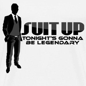 Suit Up Barney Met Mother T-Shirts - Men's Premium T-Shirt