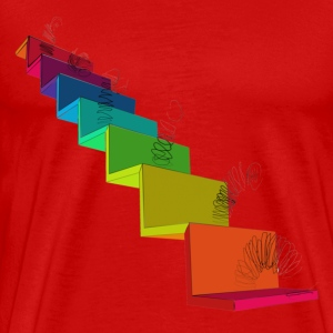 Rainbow Slinky - Men's Premium T-Shirt