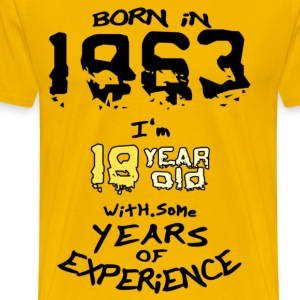 born in 1963 - Men's Premium T-Shirt