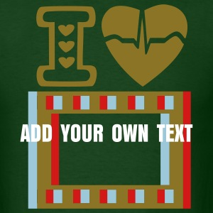 I love 3D MOVIE + ADD YOUR OWN TEXT - Men's T-Shirt
