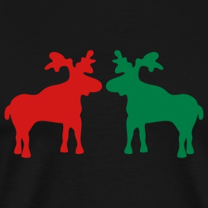 Kissing reindeers T-Shirts - Men's Premium T-Shirt