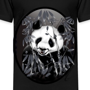 Grey tone Panda-oval - Toddler Premium T-Shirt