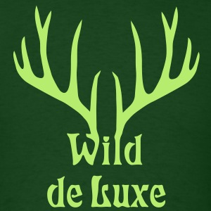 stag deer moose elk antler antlers horn horns cervine bachelor party night hunter hunting T-Shirts - Men's T-Shirt