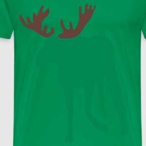 stag deer moose elk antler antlers horn horns cervine bachelor party night hunter hunting T-Shirts - Men's Premium T-Shirt