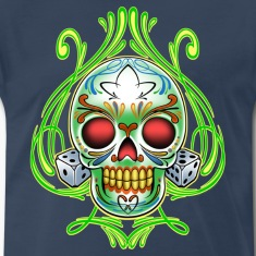 Dice Skull by RollinLow T-Shirts