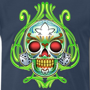 Dice Skull by RollinLow T-Shirts - Men's Premium T-Shirt