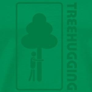treehugging tree hug treehugger trees forest natur T-Shirts - Men's Premium T-Shirt