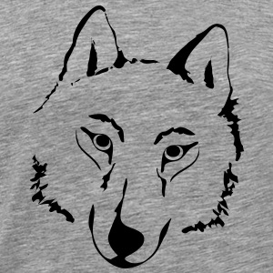 animal t-shirt wolf pack wolves howling wild animal - Men's Premium T-Shirt