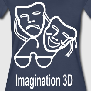 3D Imagination - Women's Premium T-Shirt