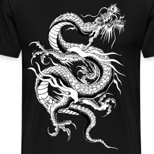 Chinese Dragon ( HD Pixel Design ) - Men's Premium T-Shirt