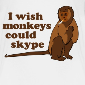 Hangover Monkey Skype Toddler Shirts - Toddler Premium T-Shirt