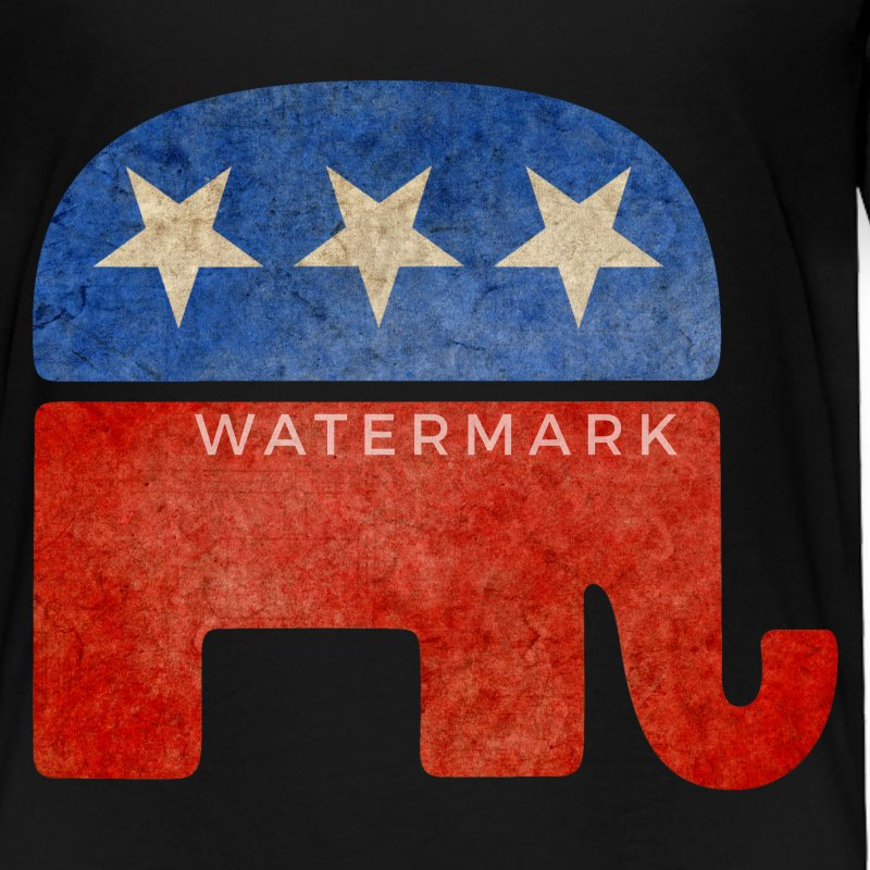 Grunge Republican Elephant Toddler Shirts - Toddler Premium T-Shirt