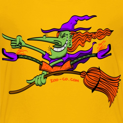 Crazy Witch Riding her Broomstick