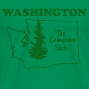 Washington, The Evergreen State - Mens vintage - Men's Premium T-Shirt