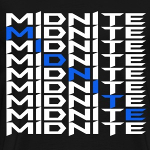 MiDNiTE T-Shirt White Font - Men's Premium T-Shirt
