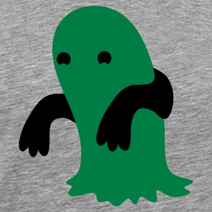 green blob kawaii cutie monster T-Shirts - Men's Premium T-Shirt