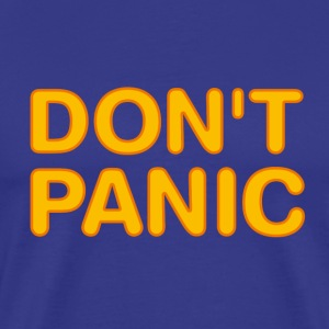 Don't panic (Hitchhikers Guide to the Galaxy) - Men's Premium T-Shirt