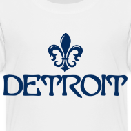 Design ~ Fleur De Lis Detroit Toddler T-Shirt