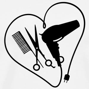 heart 4 hairstyling (1c) T-Shirts - Men's Premium T-Shirt