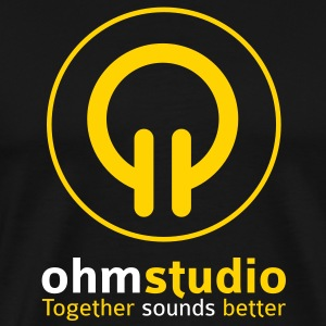ohm studio logotype T-Shirts - Men's Premium T-Shirt