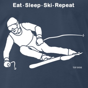 Eat Sleep Ski Repeat T-Shirts - Men's Premium T-Shirt