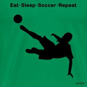Eat Sleep Soccer Repeat T-Shirts - Men's Premium T-Shirt