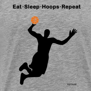Eat Sleep Hoops Repeat T-Shirts - Men's Premium T-Shirt