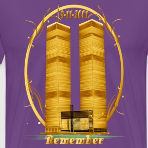 Twin Towers in Gold - Men's Premium T-Shirt