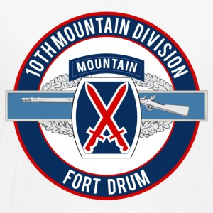 10th Mountain with CIB - Men's Premium T-Shirt