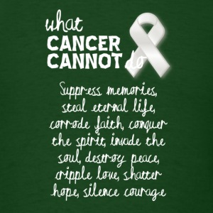 What cancer cannot do - liver cancer - Men's T-Shirt